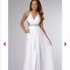 Prom girl white dress!